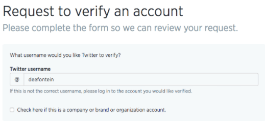 Twitter Verification Request Form - How to Get a Twitter Verified Account