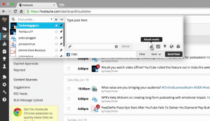 How to Schedule a Post via HootSuite Step 2