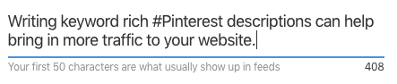 Pinterest Description Writing