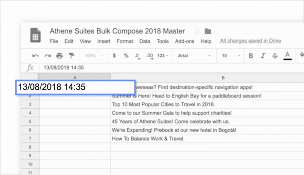 Scheduling posts in bulk Hootsuite Step 3