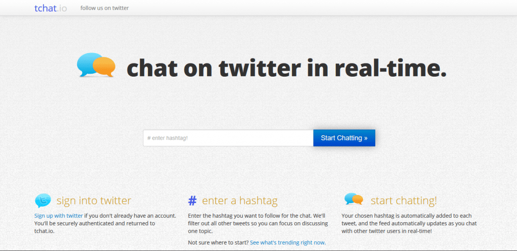How to create a Twitter chat: tchat.io application