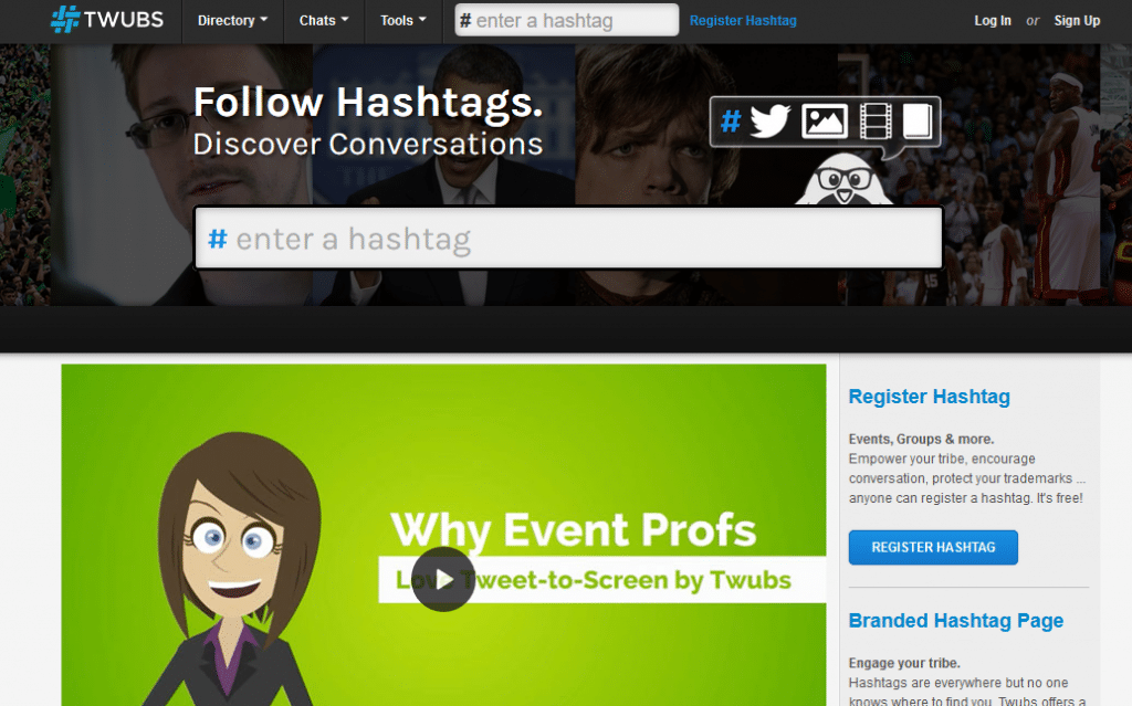 Image: homepage of Twubs - How to create a Twitter Chat
