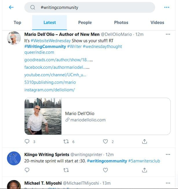 What is a good Twitter engagement rate? - #WritingCommunity example