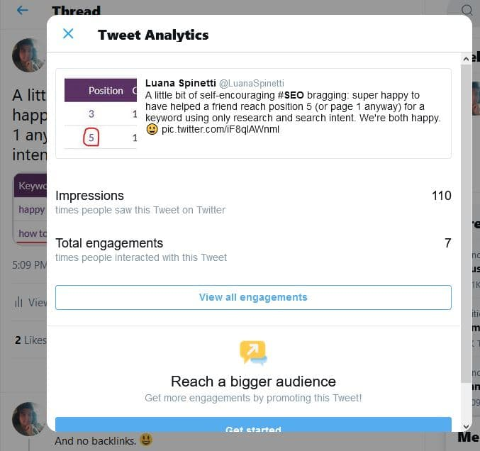 What is a good Twitter engagement rate? - View Tweet activity window