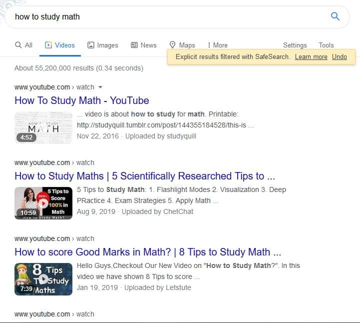 YouTube Keyword Research: Google Videos